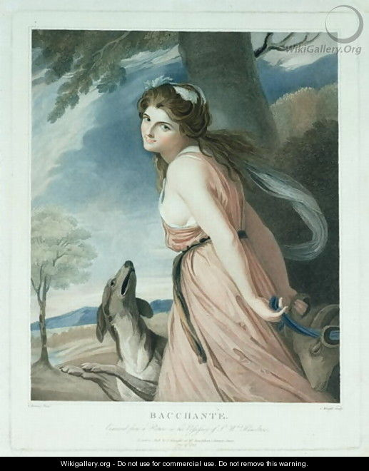 Bacchante, engraved and pub. by Charles Knight 1743-c.1826, 1797 - (after) Romney, George