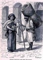 Mexican Tortillera and Straw Mat Seller, from The Ancient Cities of the New World, by Claude-Joseph-Desire Charnay, pub. 1887 - (after) Ronjat, Etienne