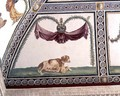 The Camera con Fregio di Amorini Chamber of the Cupid Frieze detail of a dog and a puppy, 1520s - Giulio Romano (Orbetto)
