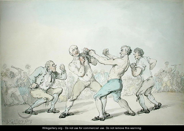 A Boxing Match - Thomas Rowlandson
