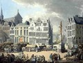Place de Mier at Antwerp, engraved by Wright and Schutz, pub. by Rudolph Ackermann, 1797 - Thomas Rowlandson