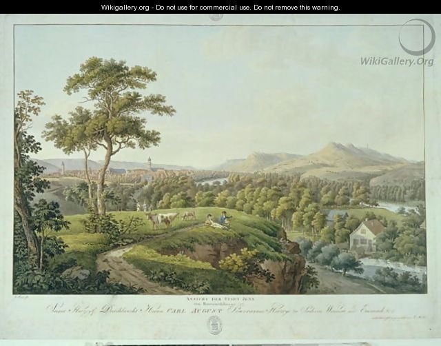 View of Jena from Rasenhuehlberg, c.1810 - Joseph Roux