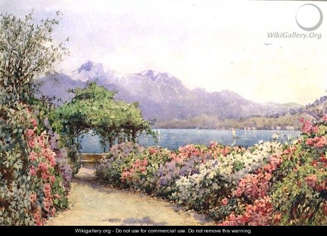 Lake Como from the Villa Carlotta - Ernest Arthur Rowe