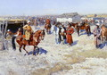 Central Asian Horse Market - Franz Roubaud