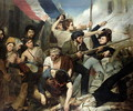 Scene of the 1830 Revolution - Philibert Rouviere
