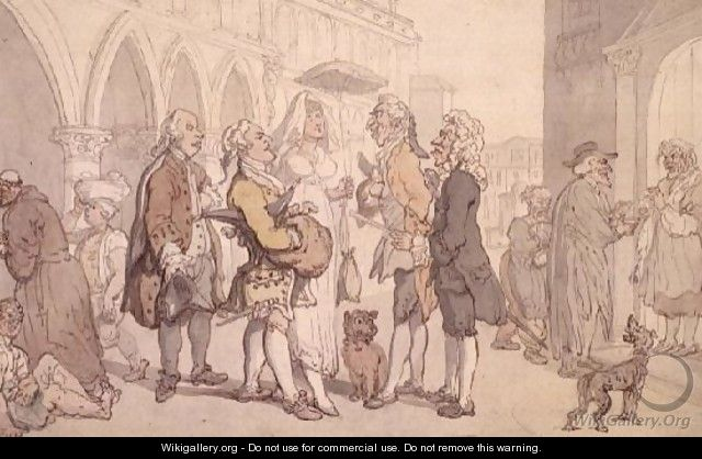 Visitors in Venice - Thomas Rowlandson