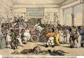 Exhibition at Bullocks Museum of Bonapartes Carriage Taken at Waterloo, pub. by Rudolph Ackermann, 1816 - Thomas Rowlandson
