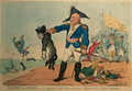 Blucher the Brave 1742-1819 Extracting the Groan of Abdication from the Corsican Bloodhound, Napoleon - Thomas Rowlandson