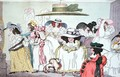 Caricature of the fashion for large hats, 1786 - Thomas Rowlandson