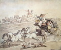 Carriages and Riders at Full Speed Across Open Grassland, c.1800 - Thomas Rowlandson