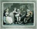 A Visit to the Uncle, aquatinted by Francis Jukes 1747-1812, pub. by E. Jackson, 1786 - Thomas Rowlandson