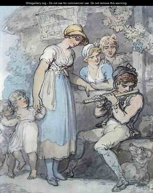 The Flute Player - Thomas Rowlandson