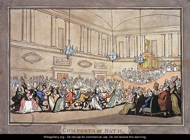 An Assembly Ball, plate 10 from Comforts of Bath, 1798 - Thomas Rowlandson