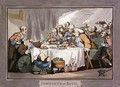 The Gourmets, plate 9 from Comforts of Bath, 1798 - Thomas Rowlandson