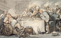 The Comforts of Bath Gouty Gourmand at Dinner - Thomas Rowlandson