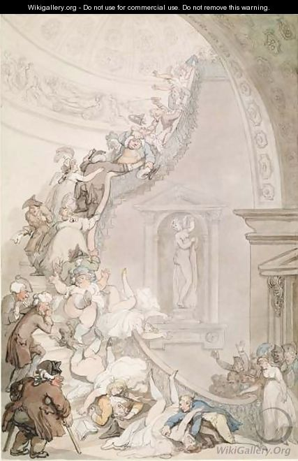 The Exhibition Stare-Case, Somerset House, c.1800 - Thomas Rowlandson