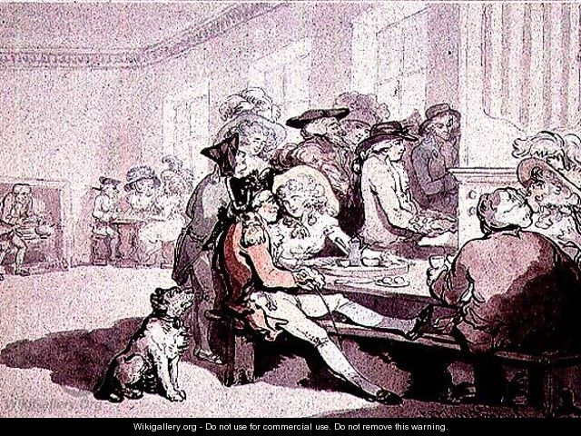 Taking tea at the White House, 1787 - Thomas Rowlandson