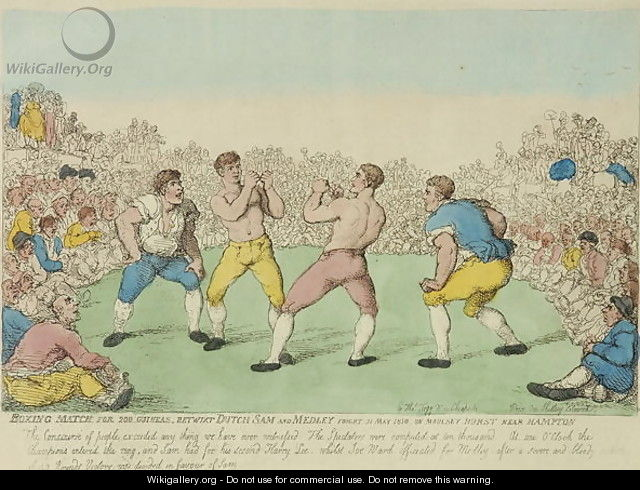 Boxing Match for 200 Guineas between Dutch Sam and Medley - Thomas Rowlandson