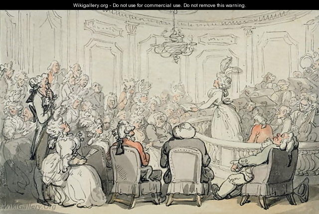 The Concert, from Scenes at Bath, c.1795-1800 - Thomas Rowlandson