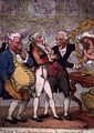 Italian picture dealers humbugging Milorde Anglaise on the Grand Tour - Thomas Rowlandson
