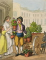Cries of London The Garden Pot Seller, 1799 - Thomas Rowlandson