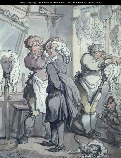 The Thickest Block of the Three - Thomas Rowlandson