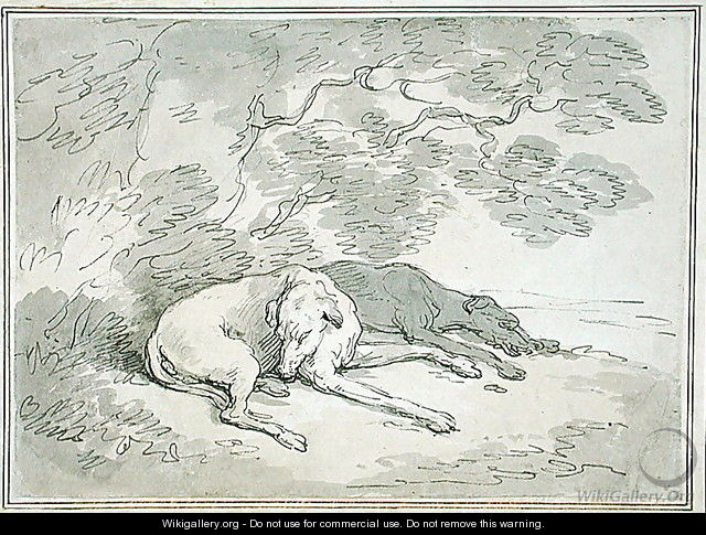 Greyhounds Asleep - Thomas Rowlandson