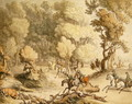 Stag at Bay - Scene near Taplow, Berks, c.1795-1801 - Thomas Rowlandson
