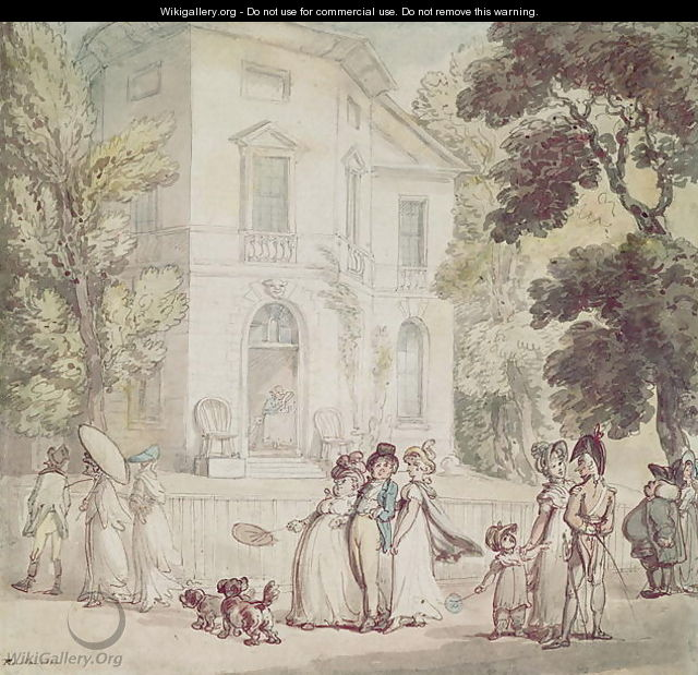 A Sunday Afternoon Promenade - Thomas Rowlandson