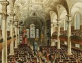 St Martins in the Fields, from Ackermanns Microcosm of London, engraved by Joseph Constantine Stadler fl.1780-1812, 1809 - & Pugin, A.C. Rowlandson, T.