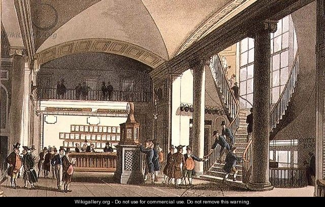 The Hall of the Auction Market - & Pugin, A.C. Rowlandson, T.