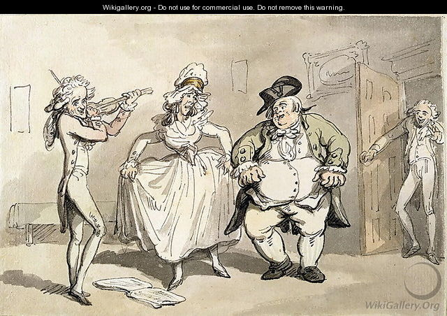 Private practice previous to the ball, from Scenes at Bath - Thomas Rowlandson
