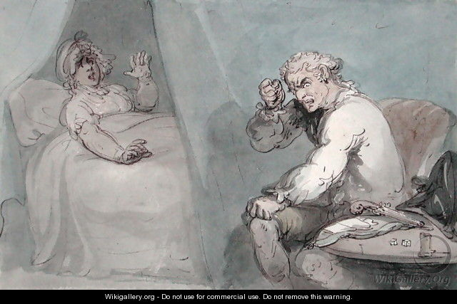 The Gamester Going to Bed - Thomas Rowlandson