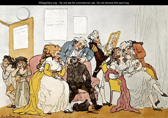 The Transplanting of Teeth, cartoon - Thomas Rowlandson