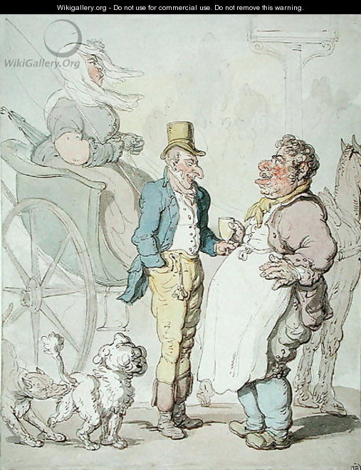 Slender Billy, Travellers taking refreshment - Thomas Rowlandson
