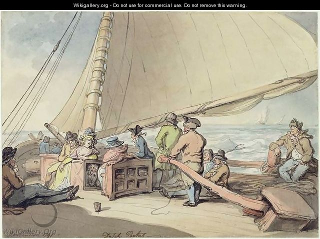 A Dutch Packet in a Rising Breeze, 1791 - Thomas Rowlandson