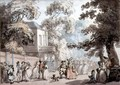 Entrance to the Mall, Spring Gardens - Thomas Rowlandson