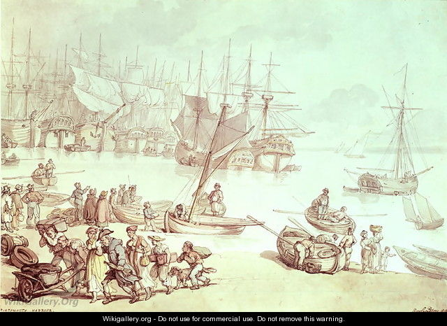 Portsmouth Harbour - Thomas Rowlandson
