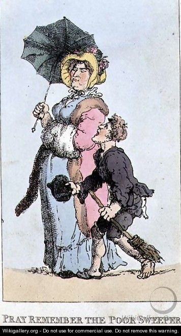 Pray Remember the Poor Sweeper, 1820 - Thomas Rowlandson