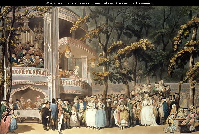 Vauxhall Gardens from Ackermanns Microcosm of London, 1809 - Thomas Rowlandson