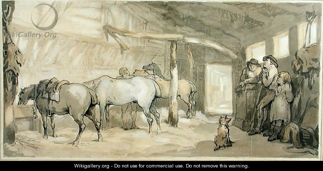 The Stable of an Inn, c.1790 - Thomas Rowlandson