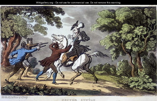 Doctor Syntax and Highwaymen, 1813 - Thomas Rowlandson