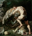 Hercules Fighting the Nemean Lion - (attr. to) Rubens, Peter Paul