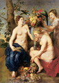 Ceres with Two Nymphs, c.1624 - and Snyders, F. Rubens, Peter Paul