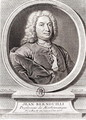 Portrait of Jean Bernoulli 1667-1748 engraved by Etienne Ficquet 1719-94 - (after) Ruber, J.