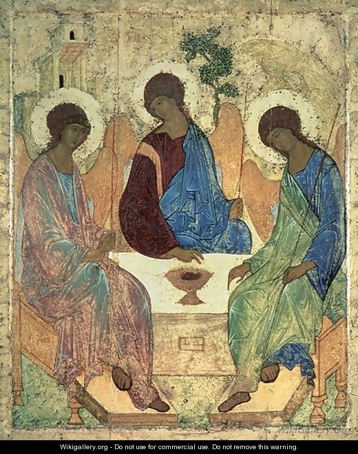 The Holy Trinity, 1420s - Andrei Rublev