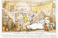 Miseries of Human Life Introductory Dialogue, published by R. Ackermann, 1807 - (after) Rowlandson, Thomas