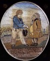 The Sailor and Banker, after a caricature pub. 1799 - (after) Rowlandson,T. and Woodward,G.M.