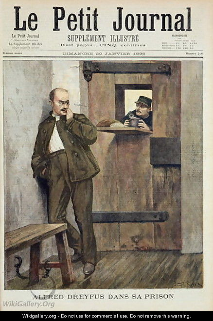 Alfred Dreyfus c.1859-1935 in Prison, from Le Petit Journal, 20th January 1895 - Lionel Roxer