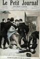 Assassination of a Policeman by an Anarchist, cover illustration of Le Petit Journal, 3rd March 1895 - (after) Royer, Lionel